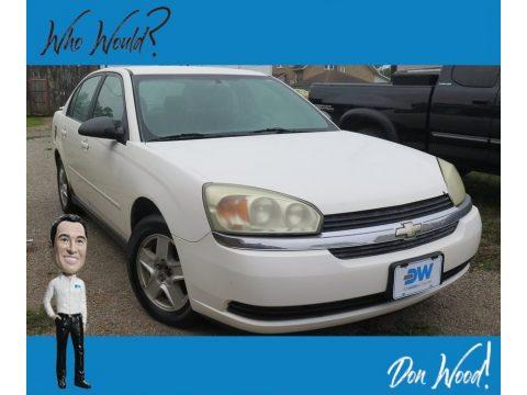 White Chevrolet Malibu LS V6 Sedan.  Click to enlarge.