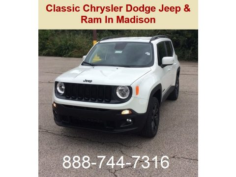 Alpine White Jeep Renegade Latitude 4x4.  Click to enlarge.