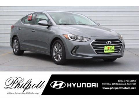 Galactic Gray Hyundai Elantra Value Edition.  Click to enlarge.