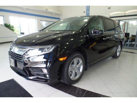Crystal Black Pearl Honda Odyssey EX.  Click to enlarge.