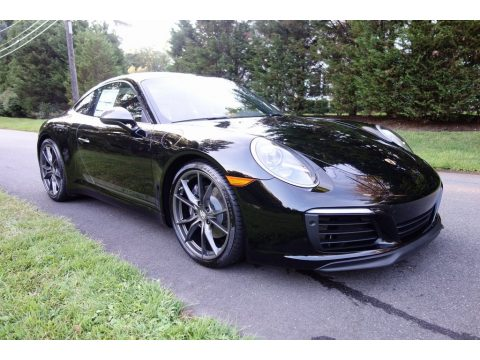 Black Porsche 911 Carrera T Coupe.  Click to enlarge.