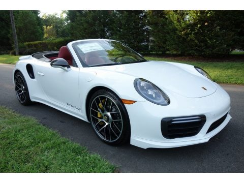 White Porsche 911 Turbo S Cabriolet.  Click to enlarge.