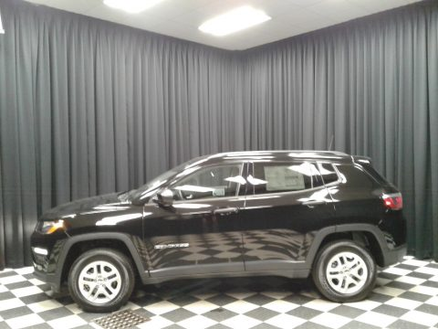 Diamond Black Crystal Pearl Jeep Compass Sport 4x4.  Click to enlarge.