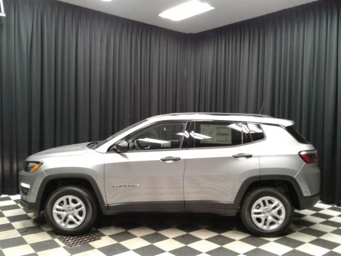 Billet Silver Metallic Jeep Compass Sport 4x4.  Click to enlarge.