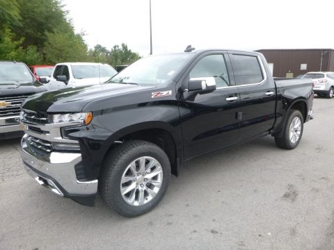 Black Chevrolet Silverado 1500 LTZ Crew Cab 4WD.  Click to enlarge.
