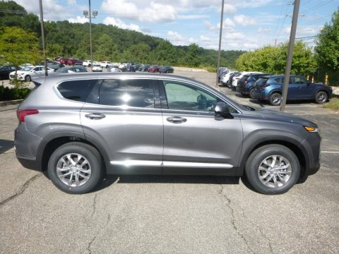 Machine Gray Hyundai Santa Fe SEL AWD.  Click to enlarge.