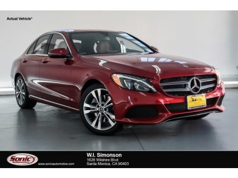 designo Cardinal Red Metallic Mercedes-Benz C 300 Sedan.  Click to enlarge.