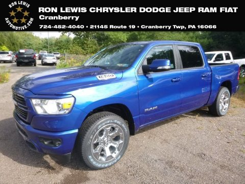 Blue Streak Pearl Ram 1500 Big Horn Crew Cab 4x4.  Click to enlarge.