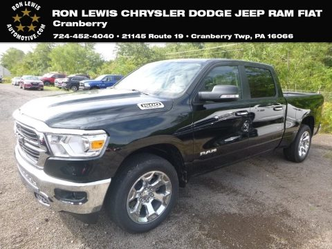 Black Forest Green Pearl Ram 1500 Big Horn Crew Cab 4x4.  Click to enlarge.