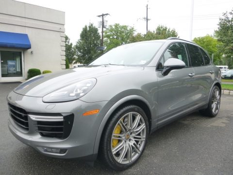 Meteor Grey Metallic Porsche Cayenne Turbo S.  Click to enlarge.
