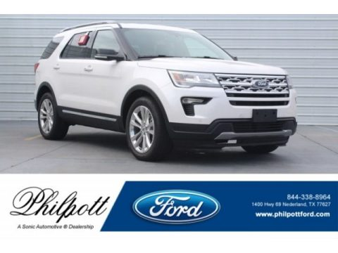 White Platinum Ford Explorer XLT.  Click to enlarge.
