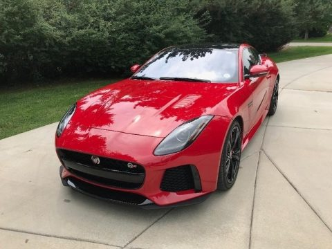 Caldera Red Jaguar F-TYPE SVR AWD Coupe.  Click to enlarge.