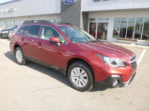 Crimson Red Pearl Subaru Outback 2.5i Premium.  Click to enlarge.