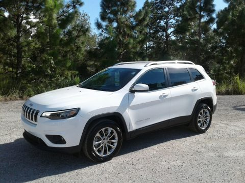 Bright White Jeep Cherokee Latitude Plus.  Click to enlarge.