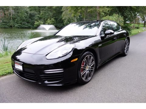 Black Porsche Panamera Turbo.  Click to enlarge.