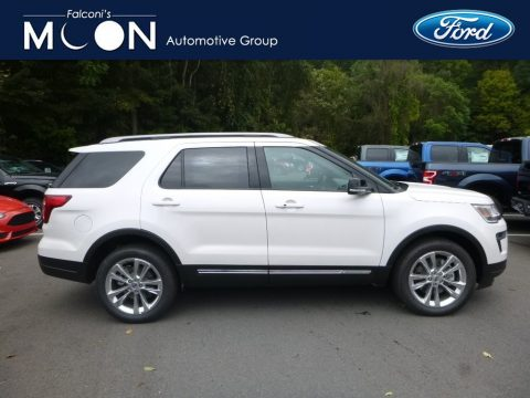 White Platinum Ford Explorer XLT 4WD.  Click to enlarge.