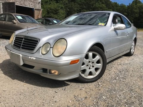 Brilliant Silver Metallic Mercedes-Benz CLK 320 Coupe.  Click to enlarge.