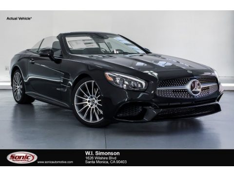Black Mercedes-Benz SL 450 Roadster.  Click to enlarge.