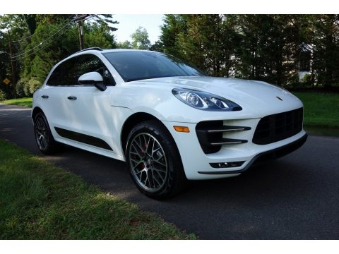 White Porsche Macan Turbo.  Click to enlarge.