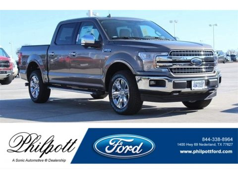 Stone Gray Ford F150 Lariat SuperCrew 4x4.  Click to enlarge.