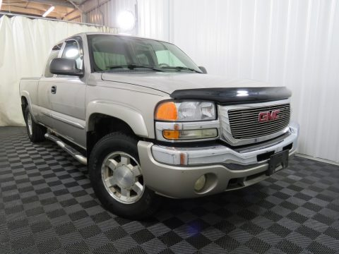 Silver Birch Metallic GMC Sierra 1500 SLE Extended Cab 4x4.  Click to enlarge.