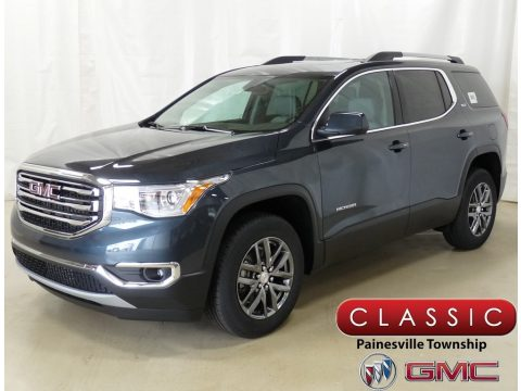 Dark Sky Metallic GMC Acadia SLT AWD.  Click to enlarge.