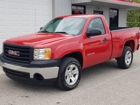 Fire Red GMC Sierra 1500 Regular Cab 4x4.  Click to enlarge.