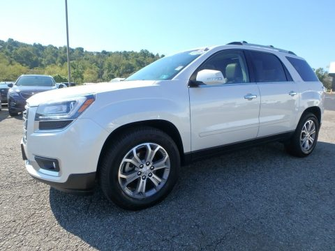 White Diamond Tricoat GMC Acadia SLT AWD.  Click to enlarge.