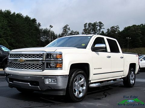 White Diamond Tricoat Chevrolet Silverado 1500 LTZ Crew Cab 4x4.  Click to enlarge.