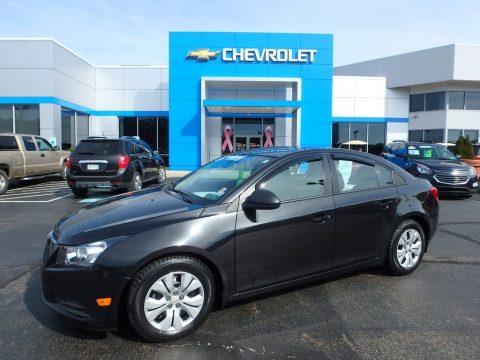 Black Granite Metallic Chevrolet Cruze LS.  Click to enlarge.