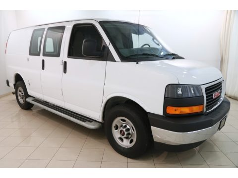 Summit White GMC Savana Van 2500 Cargo.  Click to enlarge.