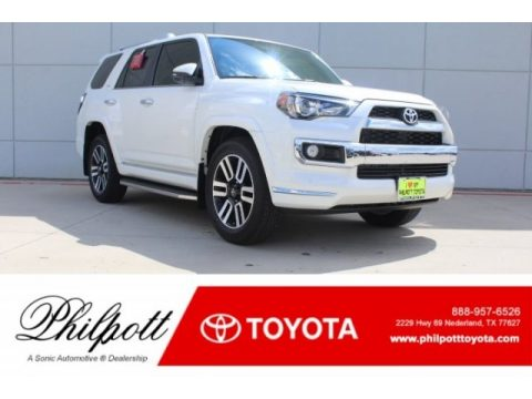 Blizzard White Pearl Toyota 4Runner Limited.  Click to enlarge.