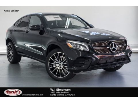 Black Mercedes-Benz GLC 300 4Matic Coupe.  Click to enlarge.