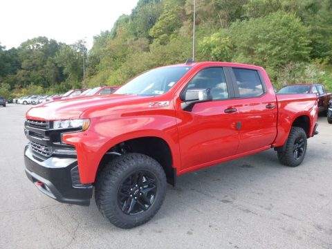 Red Hot Chevrolet Silverado 1500 LT Z71 Trail Boss Crew Cab 4WD.  Click to enlarge.