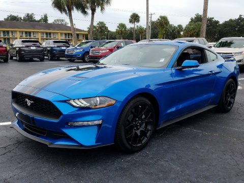 Velocity Blue Ford Mustang EcoBoost Fastback.  Click to enlarge.