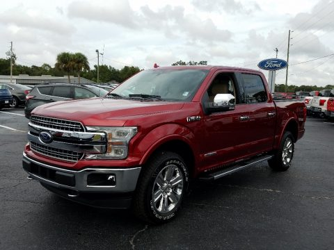 Ruby Red Ford F150 Lariat SuperCrew 4x4.  Click to enlarge.