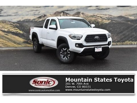 Super White Toyota Tacoma SR5 Access Cab.  Click to enlarge.
