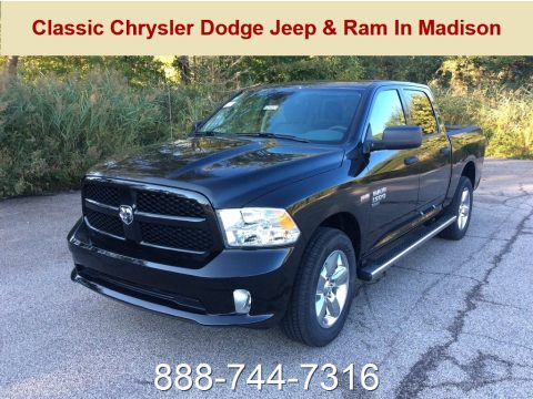 Diamond Black Crystal Pearl Ram 1500 Classic Express Crew Cab 4x4.  Click to enlarge.