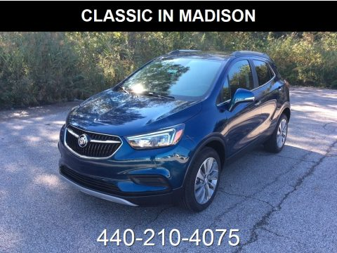 Deep Azure Metallic Buick Encore Preferred AWD.  Click to enlarge.
