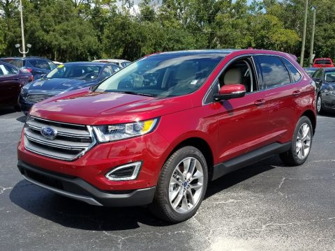 Ruby Red Ford Edge Titanium.  Click to enlarge.