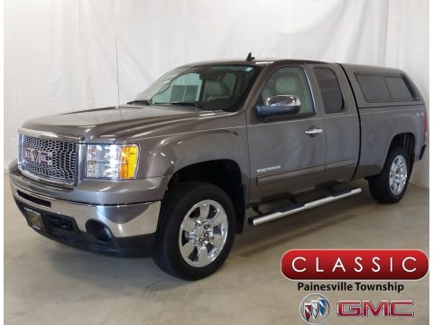 Mocha Steel Metallic GMC Sierra 1500 SLE Extended Cab 4x4.  Click to enlarge.