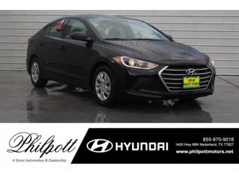 Phantom Black Hyundai Elantra SE.  Click to enlarge.