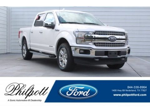 White Platinum Ford F150 Lariat SuperCrew 4x4.  Click to enlarge.