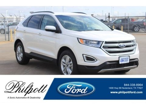 White Platinum Ford Edge SEL.  Click to enlarge.