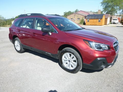 Crimson Red Pearl Subaru Outback 2.5i.  Click to enlarge.