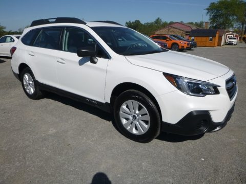 Crystal White Pearl Subaru Outback 2.5i.  Click to enlarge.