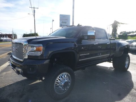 Iridium Metallic GMC Sierra 3500HD Denali Crew Cab 4x4.  Click to enlarge.