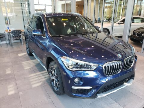 Mediterranean Blue Metallic BMW X1 xDrive28i.  Click to enlarge.