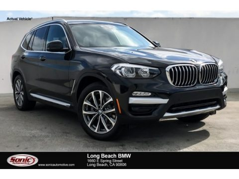 Black Sapphire Metallic BMW X3 sDrive30i.  Click to enlarge.