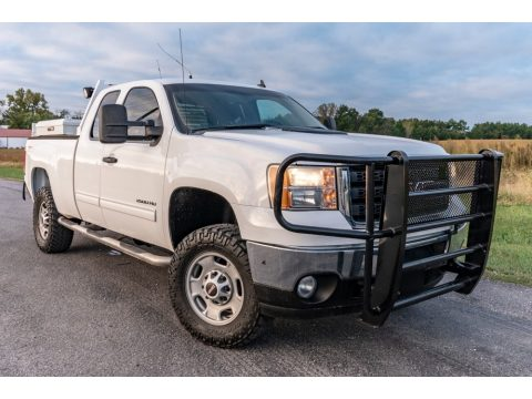 Summit White GMC Sierra 2500HD SLE Extended Cab 4x4.  Click to enlarge.